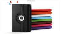 9.7'' For Apple PU For Ipad mini 1 Mini 2 Retina 360 degree Rotating PU leather stand Smart case back cover Magnetic tablet pc case Top quality
