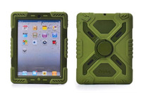 7'' For Apple for Ipad 2 2015 Pepkoo Defender Military Spider Stand Water dirt shock Proof Case Cover Ipad 2 3 4 iPad Air 5 iPad Mini Retina 1pcs