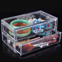 Wholesale Quality transparent cosmetic storage box plastic drawer shelf cabinet desktop storage rack Storage Boxes Bins