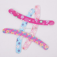 Wholesale Printed Flower Nail File Two sides Use Manicure File Professional Nail Buffer Nail Art
