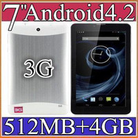 Wholesale 40PCS inch G Phone Call Tablet PC Android MTK MB GB Dual Core GHZ Dual Camera GSM WCDMA GPS Blutooth PB7G