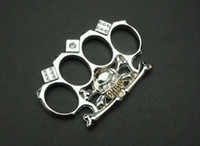 best multi tools - New arrival Silver color Skull Dice knuckle duster KNUCKLES Dice knuckle duster Best gift