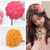 Wholesale Children Girl s Hair Accessaries Big Petal Headband Flower Hat Hairband Korean Style Girl s Favorite Hot Sale