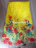 Fabric soluble fabric - TS1001 Multi Color cord lace high quality chemical lace water soluble guipure lace fabric