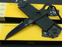fixed blade knife - Black white BUCK Doug Hartsook Small Neck Knives HC Smidgen Straight Hunting Fixed Blade Knife Whistle