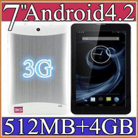 Wholesale SH inch G Phone Call Tablet PC Android MTK MB GB Dual Core GHZ Dual Camera GSM WCDMA GPS Blutooth PB7G