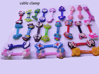 Wholesale Silicone TPU rubber cartoon headphone cable bobbin winder cord winder cable holder Mp3 MP4