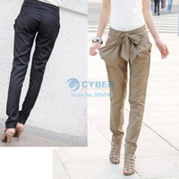 Women Flare Regular Sexy Women Fashion Skinny Long Trousers OL Casual Slim Bow Harem Pants Chic Suit