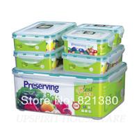 Wholesale Food Box Microwavable Sealed Plastic Container Keep Fresh Storage Box Set Waterproof Airtight Organizer Box Storage Box