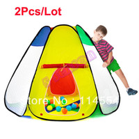 Tents Animes & Cartoons Cloth Hot Sale 2Pcs Lot Wholesale Baby Kids Children Tent Large Size Colorful Play Game House Toy Tent 14843