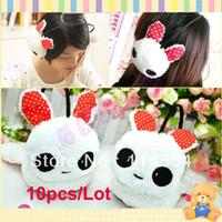 Wholesale 10pcs Winter Lovely Cartoon Plush Rabbit Keep Warm Cute Earmuff Ear Warmer