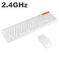 Wholesale 2 G Multimedia Optical Wireless Keyboard and Mouse USB Receiver Kit for PC White