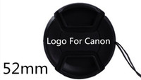 Wholesale 52 mm Lens Cap With LOGO For Canon mm mm VIA