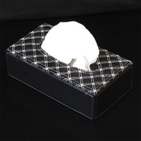 Wholesale Genuine factory direct Rundong wine upscale interior leather upholstery serieshot in the car tissue box wine
