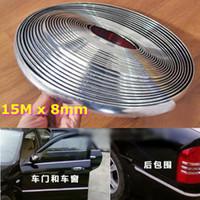 D4981 Chromium Styling  15M 8mm Car Auto Chrome DIY Moulding Trim Strip For Window Bumper Grille Silver