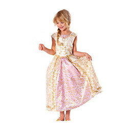 Wholesale Party Cosplay Costume Cute Rapunzel Princess Dress Fancy dress for kids Prom Clothing