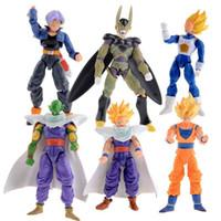 Wholesale New Dragonball Z Dragon Ball DBZ Anime cm Goku Vegeta Piccolo Gohan super saiyan Joint Movable Action Figure Toy Set