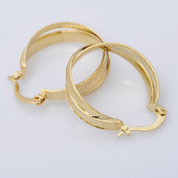 Fashion Jewelry 24mm 18k Yellow&White Solid Gold Filled Plated Hoop Earrings Trendy Earring For Women Wedding Earring E019