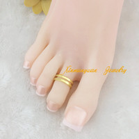 b jewelry piece - OP pieces gold plated fashion hollowing middle line body jewelry toe rings x1 b