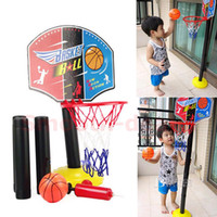 5-7 Years,8-11 Years D5508  Indoor Outdoor Adjustable Mini Children Kid Basketball Play Set Sport Toy Game