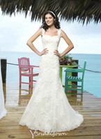 A-Line Reference Images Sweetheart Spaghetti Straps Sweetheart Neckline Lace Appliques Lace Mermaid 3770 CA07 2014 Sincerity Bridal Dresses Wedding Gowns