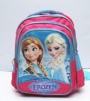 Wholesale 5pcs high quality cartoon School Bags Backpack Elsa and Anna by honestgirl09