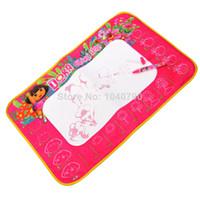 No game dora - OP Kid Baby playmat Painting blanket Magic water write Mat Drawing Game Mat water Pen DORA painting graffiti carpet