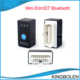 Wholesale 2014 New Arrival V2 Super Mini Bluetooth ELM327 ELM OBD2 OBDII Diagnostic Scanner With Power Switch for Android Symbian Windows
