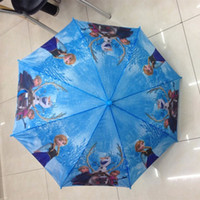 Raining automatic umbrella price - Cartoon children umbrella Frozen Fever Princess Elsa Anna lace Umbrellas Cute Kids pencil Umbrella bumbershoot Sunshade cm price
