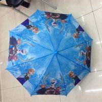 Wholesale Promotion DHL Newest Frozen Series Umbrella Frozen Princess Elsa Anna Children Kids Unbrella cm