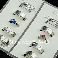 Wholesale OP Mix Style Austria Rhinestones Fashion Women Toe Rings Jewelry