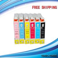 Wholesale 20 T0491 T0492 T0493 T0494 T0495 T0496 compatible ink cartridges for Stylus Photo R210 R230 R310 R350 RX510 RX630 RX650