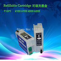 empty ink cartridges - T1371 T1371 Empty Refillable ink cartridge for K100 K105 K200 K305 with latest chip Mini Ciss Set