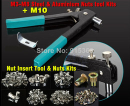 Wholesale M3 M10 Add nuts Rivet Nut Tool Kits Inserting tool rvnut gun nut tool only for M10 Aluminium Nut