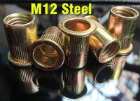 Wholesale 100pcs M10 M12 steel Rivet Nut Free Alu Nut metric steel Riv nut Nutsert Riveting