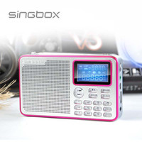 2.1 Universal Outdoor New 2014 Singbox V3 Portable Digital Audio Speaker All Wave Receiver Radio MP3 Sound Box LCD display zl506