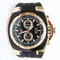 Wholesale V6 V0048 Round Dial Hard Rubber Band Quartz Movement Sports Wrist Watch with Decorative Dials