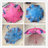 Wholesale Frozen Fever Umbrellas Cartoon Princess Elsa Anna Children Kids Umbrella for Rain Lace Parasols Bumbershoot Sunshade cm DHL