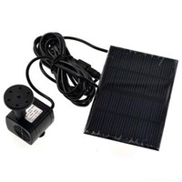 Wholesale New Solar Panel Power Submersible Fountain Garden Pond Water Pump L H The largest water height CM