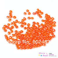 Round Shape Glass B33127 10 0 Glass Seed Beads Jewelry Making Orange-Red About 2x2mm,450 grams(approx 32100PCs Bag) (B33127)