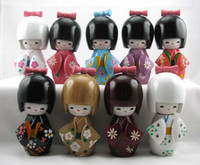 Wholesale Hot Popular Oriental Japanese Kokeshi dolls wooden with Hair Fashion Gift