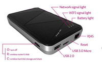 Wholesale Wireless USB HDD Enclosure Case Support External Hard Disk TB G Wifi Router Power Bank For iphone