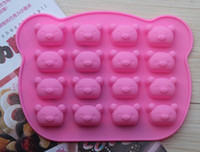 Wholesale New Silicone Ice Cream Cake Chocolate Mold Mould Biscuits Bakeing Tools Bears with Expressions