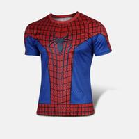 Men amazing spiderman comics - Spiderman T Shirt Super Heroes Short Sleeve T shirt The Amazing Spider Man Peter Parker Marvel Comics Spider man Costume T Shirt