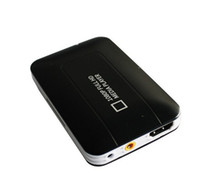 Wholesale K5 Car HDD Media player MINI Full HD P USB SD MMC support MKV DVD MPEG Player AV HDMI output Free Car adapter