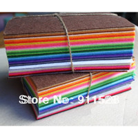 Wholesale 42pcs CM CM Polyester Nonwoven Felt Fabric DIY Felt Cloth Pack MM thick mixed color Tissue