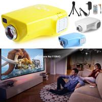 Wholesale Hot Sell Portable Mini P HD Multimedia LED Projector Home Cinema AV TV VGA HDMI Video Blue White Yellow B2 CB024373
