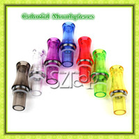 Wholesale Drip Tips Mouthpiece for eGo CE4 CE4 CE5 CE5 CE6 CE6 Clearomizer Plastic Transparent Colorful E Cigarette Mouthpieces