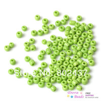 Round Shape Metal B33034 (8 0) Ceramics Seed Beads Jewelry Making Green About 3x2mm,Hole:Approx 1mm,450 Grams(approx 15000PCs Bag) (B33034)