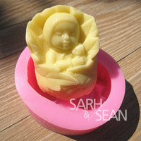 Set Silicone Rubber FGB 3D M0424 baby Wrapped in leaves of the doll soap mould fondant cake molds soap chocolate mould for the kitchen baking